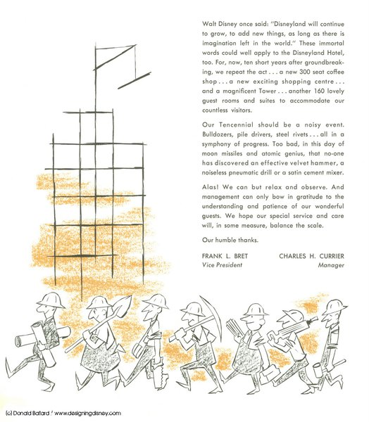 Design & History of the Disneyland Hotel California: 1955