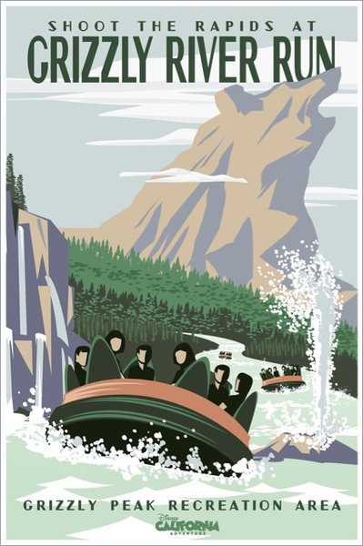 Grizzly River Rapids attraction poster.